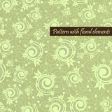 Pattern with floral elements Stock Photography