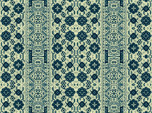 A pattern of floral and geometric elements for carpet, bedding Stock Photography