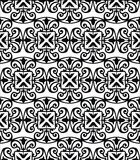 Pattern with floral and geometrical ornament. Royalty Free Stock Images