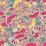 Pattern floral hand draw. Vector flowers. Vintage Royalty Free Stock Photos