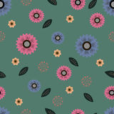 Pattern with floral motif for design Stock Photography