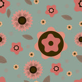 Pattern with floral motif for design Royalty Free Stock Images