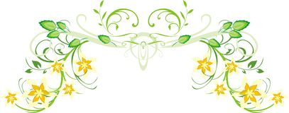 Pattern of floral ornament for decor Royalty Free Stock Photo