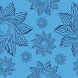 Pattern with floral ornament for royalty free illustration