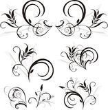 Pattern of floral ornaments for design Royalty Free Stock Image