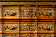 Pattern of floral woodcarving background Royalty Free Stock Photos