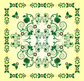 Pattern with flower Stock Images