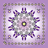 Pattern with flower Stock Photo