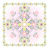 Pattern with flower. And heart Stock Images
