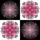 Pattern with flower Stock Photos