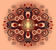 Pattern with flower vector illustration