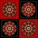 Pattern with flower. On square background Royalty Free Stock Photo