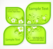Pattern flower banners Royalty Free Stock Photos