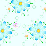 Pattern flower blue graphic background Royalty Free Stock Photos