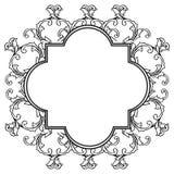 Pattern flower with boder element, for birthday invitation cards. Vector. Illustration vector illustration