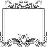 Pattern flower with boder element, for birthday invitation cards. Vector. Illustration stock illustration