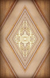 Pattern of flower carved on wood Stock Photo