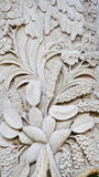Pattern of flower carved on wood background Royalty Free Stock Images