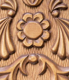 Pattern of flower carved Stock Photo