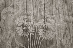 Pattern of flower carved Stock Photography