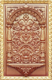 Pattern of flower carved on wooden Royalty Free Stock Image