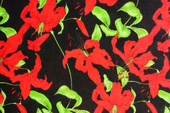 Pattern flower on cloth fabric for business Stock Images