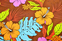 Pattern flower in cloth fabric Royalty Free Stock Photography