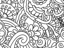 Pattern flower coloring vector for adults Royalty Free Stock Photography
