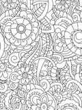 Pattern flower coloring vector for adults Royalty Free Stock Photo