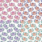 Pattern flower folk. Gorodetskaya signature element flower and leaves Royalty Free Stock Images