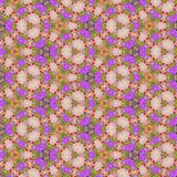 Pattern Flower Kaleidoscope in pastel colors, effect spring flowers Stock Photography