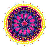 Pattern. Flower pattern mandala illustration style Stock Photos
