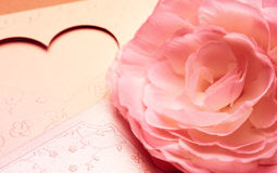 The pattern of flower romantic tone for valentine background Stock Images