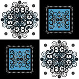 Pattern with flower on square background Royalty Free Stock Photography