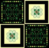 Pattern with flower on square background Royalty Free Stock Image