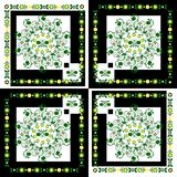 Pattern with flower on square background Royalty Free Stock Photo