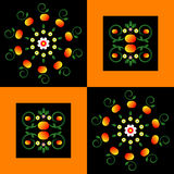 Pattern with flower on square background Royalty Free Stock Images