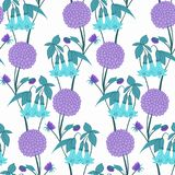 Pattern of flowering bellflower Royalty Free Stock Photography
