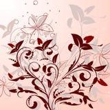 Pattern of flowering shrubs Stock Images
