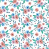 Pattern with flowers royalty free illustration