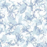 Pattern with flowers Stock Photo