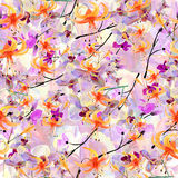 Pattern with flowers Stock Photography