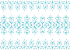 Pattern with flowers. Decorated with swirls Royalty Free Stock Photography