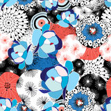 Pattern of flowers and abstractions Royalty Free Stock Images