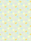 Pattern with flowers and butterflies Stock Photos
