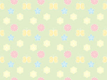 Pattern with flowers and butterflies Royalty Free Stock Photo