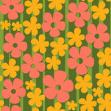 Pattern with flowers colorful. Pattern with yellow flowers on green Royalty Free Stock Photo