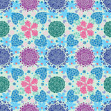 Pattern flowers colorfull Royalty Free Stock Images