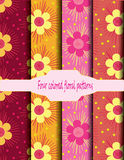 Pattern Flowers Cute colorful. Seamless pattern Flowers Cute colorful  vertor design for background or wallpaper Royalty Free Stock Image