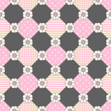Pattern Flowers Geometry Pastel Theme Stock Image